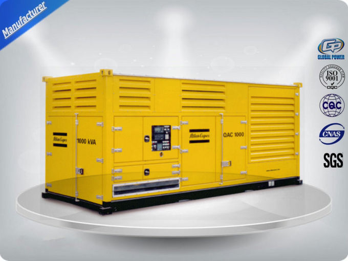 Electronic Starting Genset Silent Generator Set , Three Phase Diesel Generator