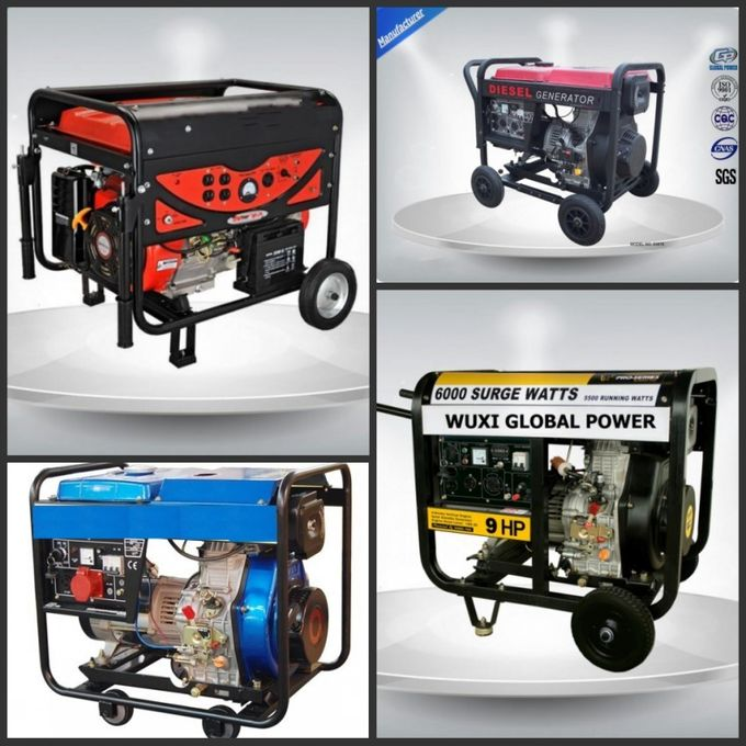 2.8-3.2 Kva Quiet Running Portable Generator Set Single Phase 3 Loops Recoil Starter
